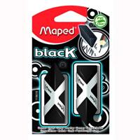 Ластик Maped Pyramide, цвет: черный, 2 шт84701ОСтильный дизайнерский ластик черного цвета трехгранной формы, соответствующий естественному захвату руки. Легко и без следов удаляет с бумаги надписи, сделанныекарандашом любой твердости. Не содержит ПВХ. Характеристики: Размер ластика: 2 см x 4,5 см x 1,5 см. Изготовитель: Китай.