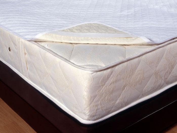 Наматрасник Comfort Luisa, водонепроницаемый, 180 см х 200 см138720010Непромокаемый наматрасник Comfort Luisa - это практичная новинка для вашей спальни! Водонепроницаемый наматрасник продлит срок службы вашего матраса: защитит его от влаги, пятен и загрязнений. Наматрасник Comfort Luisa состоит из 2 слоев: верхний слой - махровая хлопковая ткань; нижний слой - специальный материал не пропускающий влагу. Наматрасник Comfort Luisa прост в уходе и легко одевается на матрас с помощью резинок. Характеристики: Материал: 82% хлопок, 18% полиэстер. Размер: 180 см х 200 см. Производитель: Россия. Артикул: 138720010.