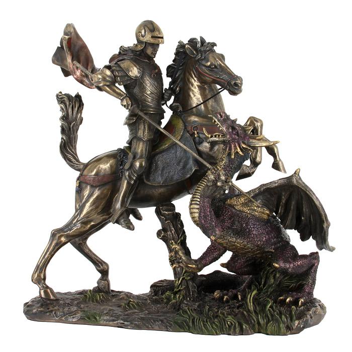 Статуэтка Святой Георгий и драконES-412Статуэтка Святой Георгий и дракон достойно украсит интерьер вашего дома или офиса. Статуэтка выполнена из полистоуна в виде Святого Георгия, сидящего на лошади и поражающего копьем дракона. Вы можете поставить статуэтку в любом месте, где она будет удачно смотреться, и радовать глаз. Также она может стать оригинальным подарком для всех любителей стильных вещей. Характеристики: Материал:полистоун. Размер: 25 см х 26 см х 15 см. Размер упаковки:35 см х 33,5 см х 19,5 см. Изготовитель:Китай. Veronese - это торговая марка, представляющая широкий ассортимент художественных изделий из полистоуна, выполненных итальянскими дизайнерами и художниками.Искусные мастера создают уникальные статуэтки и фигурки, которые призваны украсить вашу жизнь. Veronese позволит вам соприкоснуться с древними цивилизациями, окунуться в мир изящества и волшебства.