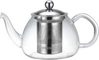 Чайник заварочный Vitesse Cindy, с фильтром, 800 мл. VS-1673VS-1673Заварочный чайник Cindy, выполненный из термостойкого стекла, послужит вам не только для приготовления чая, но и для подачи чая к столу. Благодаря резервуару из прозрачного стекла можно легко определить момент закипания воды, а также количество оставшегося чая в заварочном чайнике. Крышка и фильтр чайника, отделяющий чайные листья от воды, выполнены из высококачественной нержавеющей стали. Горлышко и ручка чайника изготовлены вручную. Эстетичный и функциональный, с эксклюзивным дизайном, чайник дополнит интерьер и придаст ему оригинальности. Чайник можно использовать на электрической, газовой и стеклокерамической плитах в том случае, если диаметр дна чайника больше или совпадает с диаметром конфорки плиты. Высота чайника (без учета крышки): 9 см. Диаметр основания чайника: 10 см.