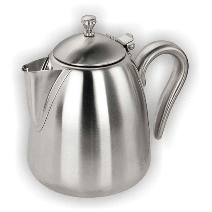Чайник заварочный Vitesse Bryttany, с ситечком, 1 лVS-1896Заварочный чайник Vitesse Bryttany, выполненный из высококачественной нержавеющей стали 18/10 с зеркальной полировкой, предоставит вам все необходимые возможности для успешного заваривания чая. Чай в таком чайнике дольше остается горячим, а полезные и ароматические вещества полностью сохраняются в напитке. Чайник имеет вынимающийся фильтр-ситечко, что делает его чрезвычайно удобным в использовании. Эстетичный и функциональный, с эксклюзивным дизайном, чайник будет оригинально смотреться в любом интерьере. Чайник пригоден для мытья в посудомоечной машине. Характеристики: Материал: нержавеющая сталь. Объем чайника: 1,0 л. Высота чайника (без учета крышки): 13,5 см. Диаметр основания чайника: 11 см. Размер упаковки: 17,5 см х 15,5 см х 13,5 см. Артикул: VS-1896. Кухонная посуда марки Vitesse из нержавеющей стали 18/10...