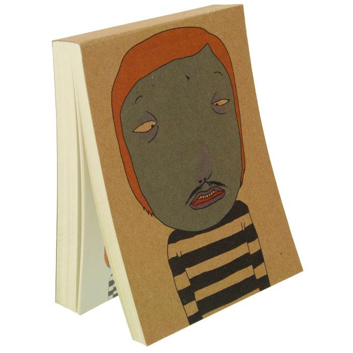 Блокнот Синяк0101020Блокнот Синяк послужит прекрасным местом для памятных записей, любимых стихов, рисунков и многого другого. Обложка из плотного картона декорирована изображением забавного человечка с синим лицом. Нелинованные страницы альбома оформлены изображением персонажа с обложки и его мыслями. Вы можете дорисовывать лицо человечку на каждой странице, и его настроение будет зависеть только от вашей фантазии! Характеристики: Материал: картон, бумага. Размер блокнота: 8 см х 11 см. Изготовитель: Китай. Артикул: 0961-RC100K-002N.