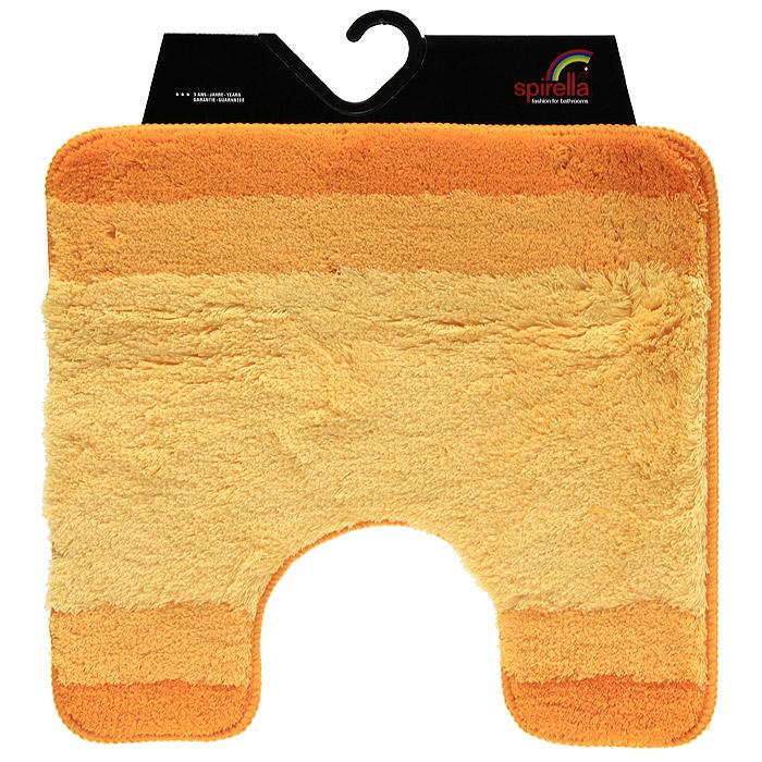 Коврик Balance, цвет: оранжевый, 55 х 55 см1009223Коврик для ванной комнаты Balance выполнен из акрила высокого качества. Прорезиненная основа коврика позволяет использовать его во влажных помещениях, предотвращает скольжение коврика по гладкой поверхности, а также обеспечивает надежную фиксацию ворса. Коврик добавит тепла и уюта в ваш дом. Хорошо переносит машинную стирку и отжим в центрифугах, а также подходит для полов с подогревом. Характеристики: Материал: 100% акрил. Размер: 55 см х 55 см. Производитель: Швейцария. Изготовитель: Китай. Артикул: 1009223.