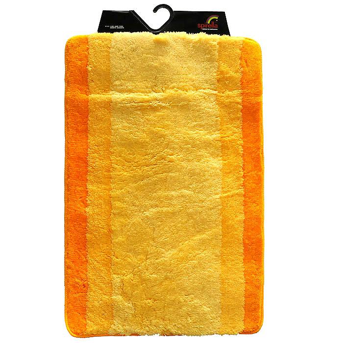Коврик Balance, цвет: оранжевый, 60 х 90 см1009225Коврик для ванной комнаты Balance выполнен из акрила высокого качества. Прорезиненная основа коврика позволяет использовать его во влажных помещениях, предотвращает скольжение коврика по гладкой поверхности, а также обеспечивает надежную фиксацию ворса. Коврик добавит тепла и уюта в ваш дом. Хорошо переносит машинную стирку и отжим в центрифугах, а также подходит для полов с подогревом. Характеристики: Материал: 100% акрил. Размер: 60 см х 90 см. Производитель: Швейцария. Изготовитель: Китай. Артикул: 1009225.