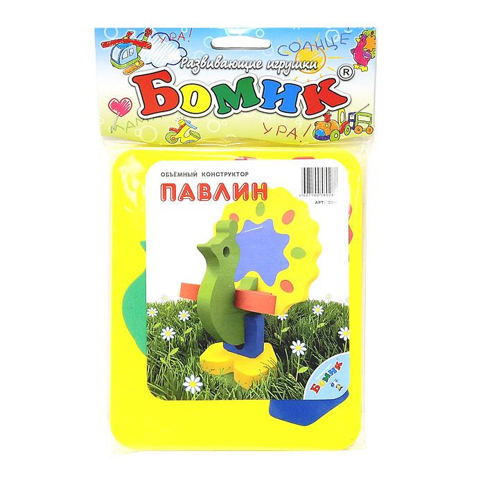 Бомик Мягкий конструктор Павлин