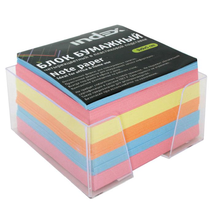 Бумага для записей многоцветная Index, в подставке, 90х90х50I9905/RБумага для записей Index - необходимый настольный аксессуар делового человека. Блок состоит из листов разноцветной бумаги, что помогает лучше ориентироваться во множестве заметок. А яркий блок-кубик на вашем рабочем столе поднимет настроение Вам и Вашим коллегам! Бумага хранится в прозрачной пластиковой подставке. Характеристики: Материал: бумага, пластик. Размер листа: 9 см х 9 см. Размер блока: 9 см х 9 см х 5 см. Изготовитель: Беларусь.