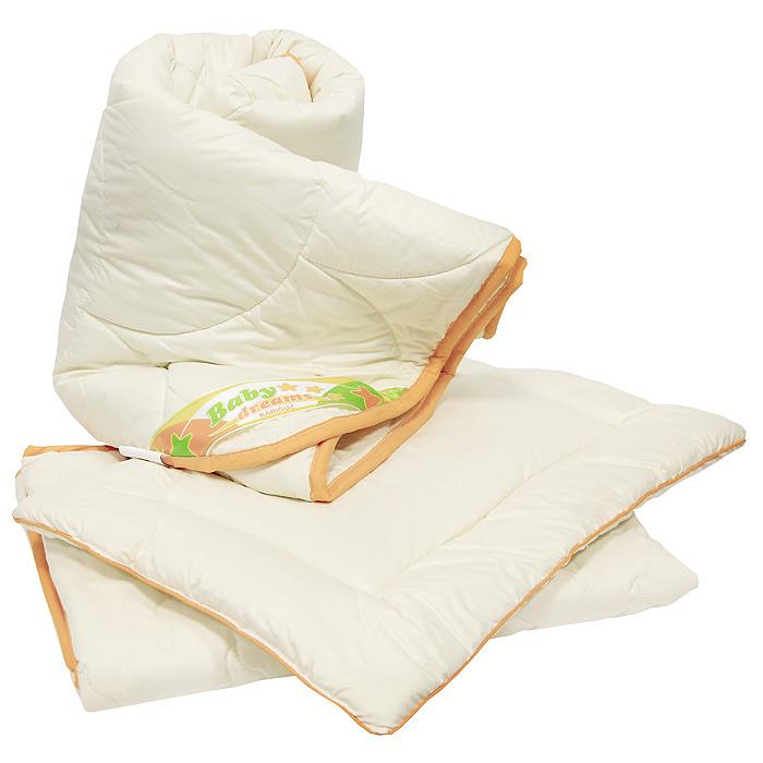 Комплект в кроватку Винни: одеяло, подушка, наматрасник. НВН2-2-0НВН2-2-0Комплект в кроватку Винни, состоящий из одеяла, подушки и наматрасника, станет настоящим другом малышу, защитит его от вредных микробов, а способность шерсти сохранять тепло и рассеивать излишнюю влагу делает его идеальным выбором для детской спальни. Овечья шерсть обладает удивительными антибактериальными и противовоспалительными свойствами. Очень важно, чтобы ваш малыш хорошо спал - это залог его здоровья, а значит вашего спокойствия. Согласно рекомендациям детских врачей, лучше всего приобретать изделия только с натуральными наполнителями. Они обеспечивают идеальный термо- и гидробаланс сна вашему малышу. Характеристики: Материал чехлов: 100% хлопок. Материал наполнителя: 100% овечья шерсть. Размер одеяла: 110 см х 140 см. Размер подушки: 40 см х 60 см. Размер наматрасника: 70 см х 140 см. Производитель: Россия. Артикул: НВН2-2-0. ...