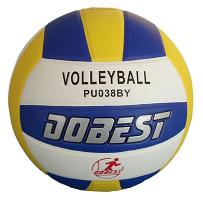Мяч волейбольный Dobest. PU038120330_black/whiteМяч волейбольный Dobest, клееный. Характеристики:Материал: полиуретан.Камера: бутил.Размер: 5.Вес: 260-280 г.Артикул: PU038.Производитель: Китай.