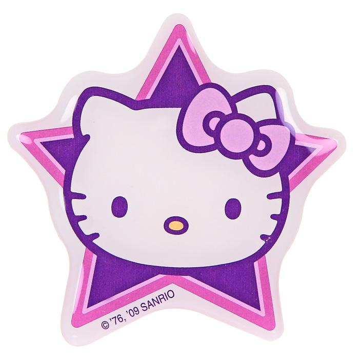 Наклейка Hello Kitty3491Наклейка Hello Kitty на фоне симпатичной сиреневой звезды привлечет внимание Вашей малышки и не позволит ей скучать! Hello Kitty (Хелло Китти) - персонаж японской поп-культуры - маленькая белая кошечка в упрощенной рисовке. Торговая марка Hello Kitty, зарегистрированная в 1976 году, используется в качестве бренда для многих продуктов и стала главным героем одноименного мультсериала. Игрушки Hello Kitty - популярные в Японии и во всем мире сувениры. Характеристики: Размер наклейки: 9 см х 9 см.