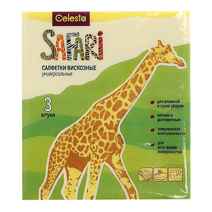 Набор универсальных салфеток Celesta Safari, 3 шт303 TНабор Celesta Safari состоит из трех универсальных салфеток, изготовленных из высококачественной вискозы. Они предназначены для влажной и сухой уборки. Салфетки отлично подходят для ухода за деревянными, пластиковыми и стеклянными поверхностями, за сантехникой и кафелем. Благодаря большому содержанию вискозы в составе волокон, салфетки легко впитывают влагу и отлично отжимаются. Не оставляют ворсинок и разводов, а также отлично поглощают пыль и грязь. Характеристики: Материал: вискоза, полиэстер, полипропилен. Размер: 30 см х 34 см. Комплектация: 3 шт. Производитель: Россия. Артикул: 303 T.
