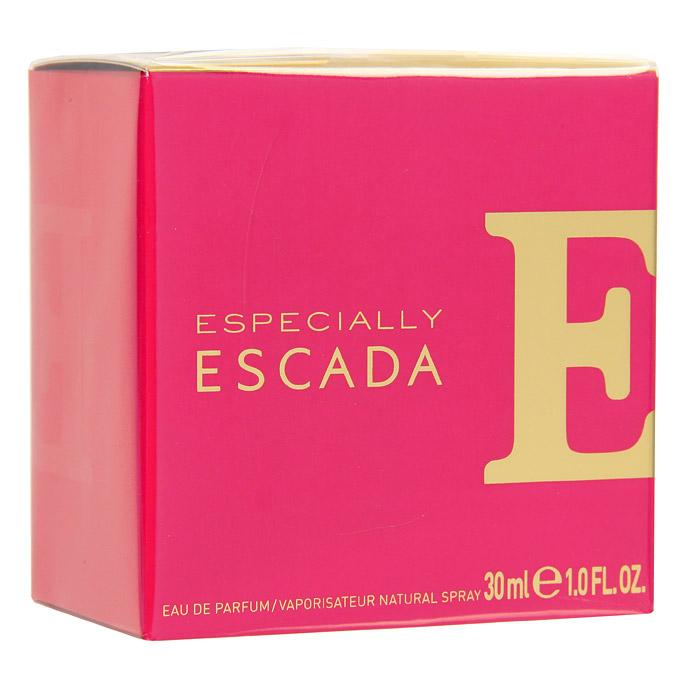 Escada Especially. Парфюмированная вода, 30 мл1301210Especially ESCADA – ода женственности, оптимизму и хорошему настроению. Композиция аромата, построенная на сочетании цветочно-фруктовых нот, привлекает своей искрящейся яркостью и динамикой. Especially ESCADA создан для веселых, непосредственных красавиц. Для тех, кто ценит каждый миг жизни и стремится сделать его ярким, неповторимым и незабываемым.Верхняя нота: Роза, иланг-иланг.Средняя нота: груша.Шлейф: акватический аккорд, мускус.Утонченный, изысканный и женственный аромат Especially Escada построен на благородном аромате розы.Дневной и вечерний аромат.