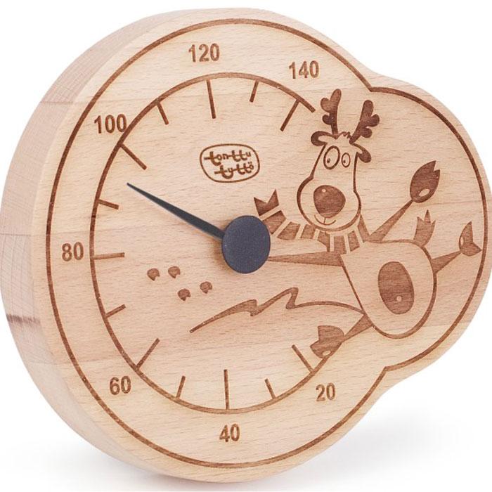 Термометр для бани и сауны Tapio (Тапио). 260260Термометры серии Tapio (Тапио) выполнены из древесины бука, обладающего притягательным розоватым цветом, ее плотность прекрасно переносит перепады температуры, что увеличивает срок службы изделий. Созданные для контроля оптимальной температуры в бане и сауне, они задают стиль банного интерьера. Стрелка механизма меняет настроение озорных персонажей термометров в зависимости от температуры. Максимальная измеряемая температура - 140 градусов. Характеристики: Размер термометра: 13,5 см х 16 см. Материал: дерево, металл. Производитель: Россия. Артикул: 260.