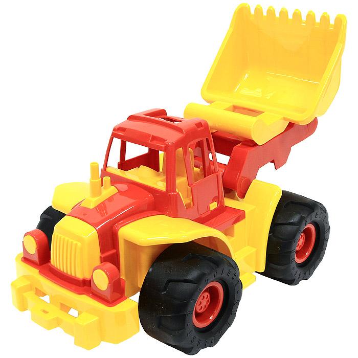 "Нордпласт Трактор ""Богатырь"" с грейдером, цвет: красный, желтый 099"