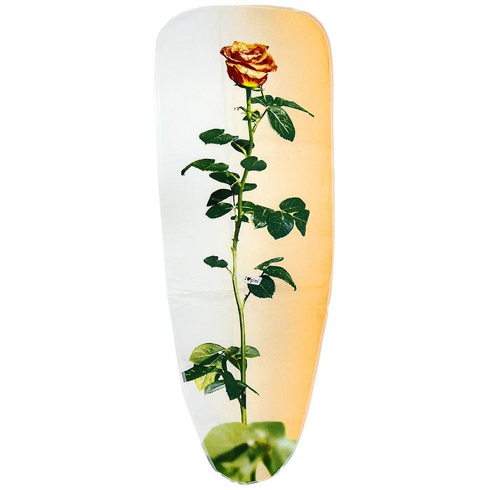 Чехол для гладильной доски Чайная роза, 120 см х 43 см12030014Чехол для гладильной доски Чайная роза, выполненный из хлопка с подкладкой из мягкого нетканого материала, предназначен для защиты или замены изношенного покрытия гладильной доски. Чехол снабжен стягивающим шнуром, при помощи которого вы легко отрегулируете оптимальное натяжение чехла и зафиксируете его на рабочей поверхности гладильной доски. Этот качественный чехол обеспечит вам легкое глажение. Характеристики: Материал чехла: 100% хлопок. Материал подкладки: полиэстер. Размер чехла: 120 см x 43 см. Размер доски, на которую предназначен чехол: 110 см x 33 см. Изготовитель: Италия. Артикул: 12030014.