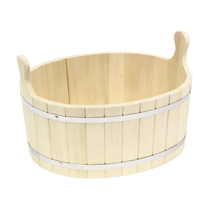 Ушат Шайка, 20 л531-401Одним из тех приятных мелочей, без которых не обойтись при принятии банных процедур, является ушат для бани. Ушат Шайка овальной формы, выполненный из липы, прекрасно подойдет для замачивания веника или других банных процедур. Ушат, изготовленный из этой древесины, не портится от воды.Характеристики: Материал: дерево (липа), металл. Объем: 20 л. Размер: 48 см х 37 см х 21 см. Производитель: Россия. Артикул: 03721.