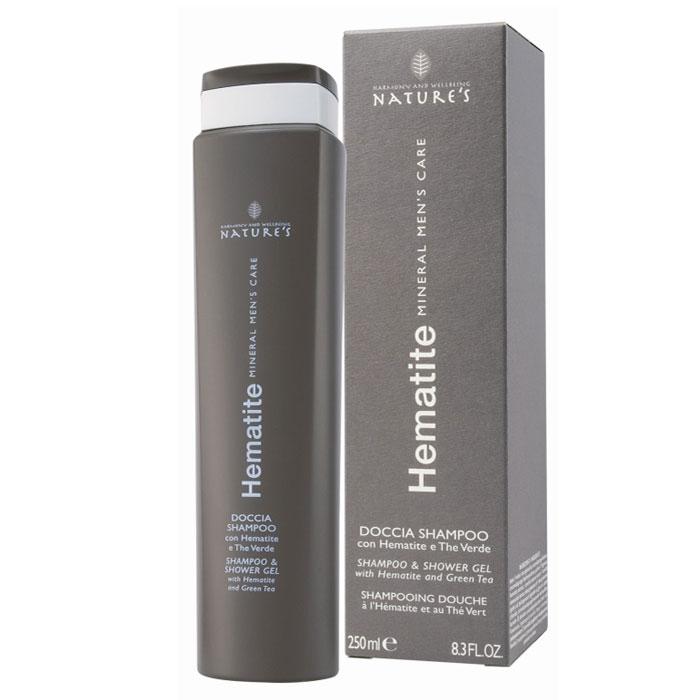 Шампунь-гель Natures Hematite, 250 млБ33041_шампунь-барбарис и липа, скраб -черная смородинаШампунь-гель Natures Hematite рекомендуется для ежедневной гигиены тела и волос для всех типов кожи. Идеальное средство после занятий спортом.Питает и увлажняет кожу. Поддерживает гидролипидный баланс и защищает кожу от сухости, обладает смягчающим и успокаивающим свойствами, делая кожу мягкой и увлажненной, придает волосам здоровый блеск. Оставляет приятное ощущение комфорта. Характеристики:Объем: 250 мл.Производитель: Италия.Товар сертифицирован.