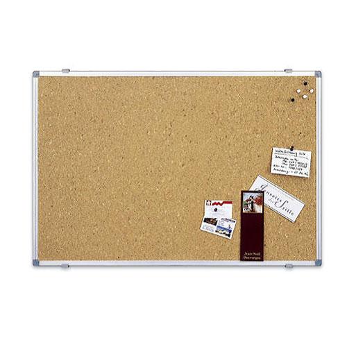 Доска пробковая Magnetoplan, с алюминиевой рамкой, 60 см х 45 см12177Пробковая доска Magnetoplan предназначена для размещения наглядных материалов при проведении презентации, обучающего занятия или как удобное средство визуальных коммуникаций. Информацию можно крепить к доске при помощи силовых кнопок, гвоздиков, флажков. Поверхность, выполненная из высококачественной агломерированной пробки, легко восстанавливается после удаления кнопки, поэтому такие доски практичны и долговечны. Задняя сторона укреплена гальванизированным металлическим листом для придания необходимой жесткости и для защиты от деформации. Доска окантована рамкой из анодированного алюминия серебристого цвета со скругленными пластиковыми углами. В комплект входят 4 силовых кнопки-гвоздика и крепеж для монтажа. Характеристики: Размер доски: 60 см x 45 см. Изготовитель: Китай.