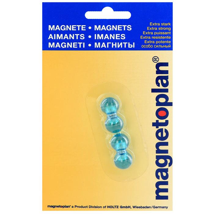 """Мини-магниты """"Magnetoplan"""", цвет: голубой, 4 шт 16 660 14"""