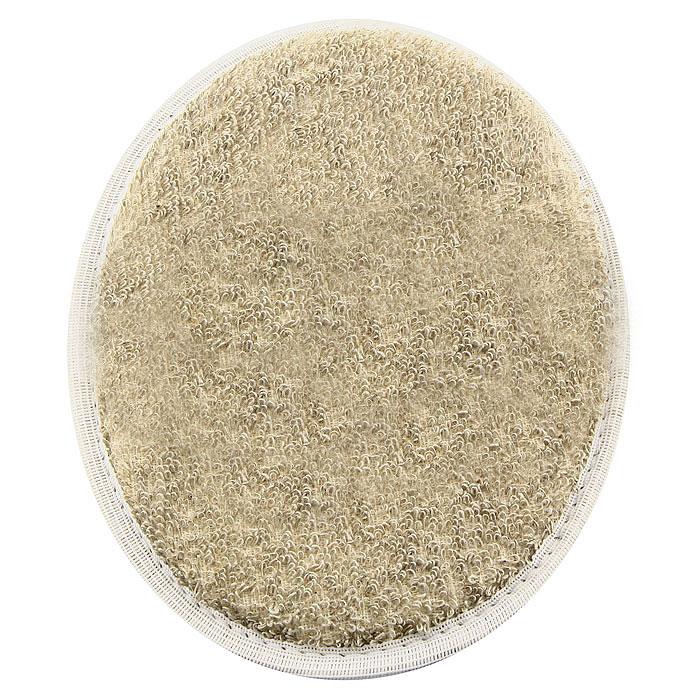 Мочалка овальная Eva. М415010777142037Мочалка, выполненная из волокон льна, обладает бактерицидными свойствами. Хорошо пенится. На одной из сторон имеется лента, благодаря которой мочалку удобно держать в руке. Мочалка с мягким уровнем жесткости обладает эффектом деликатного массажа, который обеспечивает бережный уход за чувствительной кожей. Тонизирует, массирует, очищает. Не вызывает аллергии. Характеристики: Материал: лен, хлопок, поролон. Размер мочалки: 18 см х 14,5 см.Уровень жесткости: мягкий. Производитель: Россия. Артикул: М41.