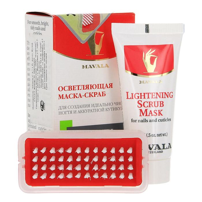 Осветляющая скраб-маска Mavala для ногтей, 15 млБ63003 мятаМаска удаляет любые загрязнения с ногтей и контура ногтя, сглаживает неровности ногтевой пластины, сохраняя при этом ее эластичность, смягчает кутикулу и помогает устранить омертвевшие клетки кожи благодаря натуральному и эффективному увлажняющему компоненту Диатомовой Земле (микроскопические частицы морских водорослей). Экстракт лимона - тонизирует, ухаживает и осветляет ногти, приводя их в идеальное состояние. Витамин В5 (пантотеновая кислота)- необходим для полноценного роста ногтя, принимает участие в белковом обмене. Питает матрицу и укрепляет структуру ногтя. Экстракт зародышей пшеницы - поддерживает водный баланс эпидермиса, обладает регенерирующим и антиоксидантными свойствами. Алое Вера - оказывает заживляющее, бактерицидное, тонизирующее действие, используется в препаратах для чувствительной кожи. Экстракт Мальвы - обладает ярко выраженным смягчающим и увлажняющим действием,регулирует жировой баланс. Снимает воспаления и раздражения, заживляет ранки, активирует защитные силы. Аллонтаин - (содержится в окопнике лекарственном) обладает смягчающими свойствами, заживляет и уменьшает воспаление и шелушение кожи , увлажняя ее. Способ применения: Средство применяется 1-2 раза в неделю на очищенные от лака ногтидля придания им идеальной формы и ухоженного вида. Нанесите небольшое количество средства на чистые смоченные в воде ногти и кутикулы и помассируйте 10-20 секунд каждый ноготь. Удалите остатки средства с помощью теплой воды и щеточки для ногтей, которая входит в упаковку маски. Характеристики:Объем скраб-маски: 15 мл. Размер щеточки: 6,5 см х 3 см х 1,5 см. Производитель: Швейцария. Артикул: 919.14.Товар сертифицирован.