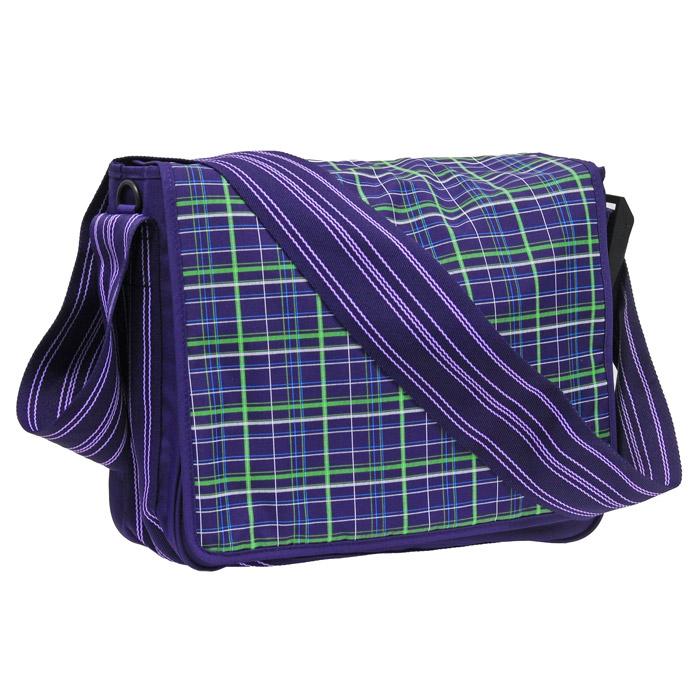 """Сумка-мессенжер Lassig """"Клетка"""", цвет: фиолетовый LMB1222226"""
