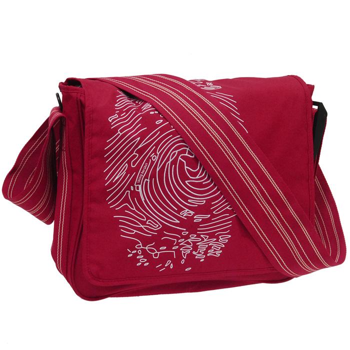 """Сумка-мессенжер Lassig """"Отпечаток пальца"""", цвет: красный LMB1111122"""
