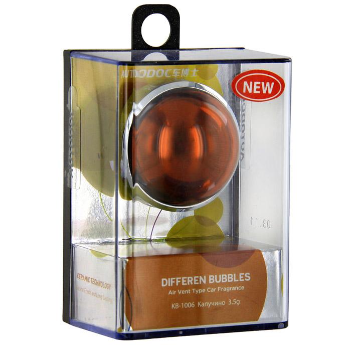 Освежитель воздуха на дефлектор Differen Bubbles. Капучино, 3,5 гKB-1006Освежитель воздуха Differen Bubbles. Капучино предназначен на дефлектор обдува. Эффективно устраняет посторонние запахи и наполняет салон автомобиля неповторимым ароматом. Срок действия до 60 дней. Характеристики: Вес: 3,5 г. Аромат: капучино. Диаметр освежителя: 3,5 см. Размер упаковки: 7 см х 5 см х 3,7 см. Производитель: Китай. Артикул: KB-1006.