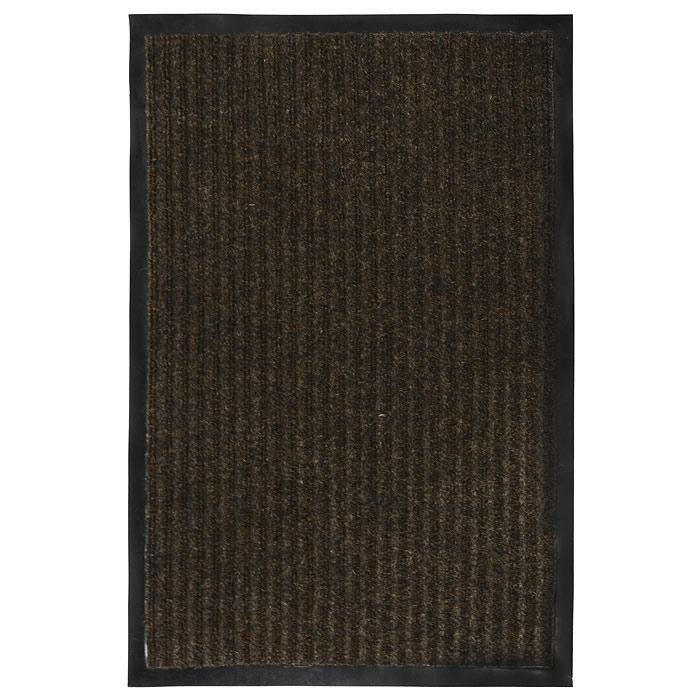 Коврик придверный Vortex, влаговпитывающий, цвет: коричневый, 40 см х 60 см22078Придверный влаговпитывающий коврик Vortex коричневого цвета выполнен из ПВХ и полиэстера. Он прост в обслуживании, прочный и устойчивый к различным погодным условиям. Лицевая сторона коврика ребристая. Прорезиненная основа коврика предотвращает его скольжение по гладкой поверхности и обеспечивает надежную фиксацию. Такой коврик надежно защитит помещение от уличной пыли и грязи. Характеристики: Материал: ПВХ, полиэстер. Размер коврика: 40 см х 60 см. Цвет: коричневый. Изготовитель: Китай. Артикул: 22078.