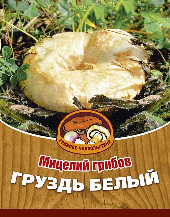 """Грибное удовольствие Мицелий грибов """"Груздь белый"""", субстрат, 60 мл 10024"""
