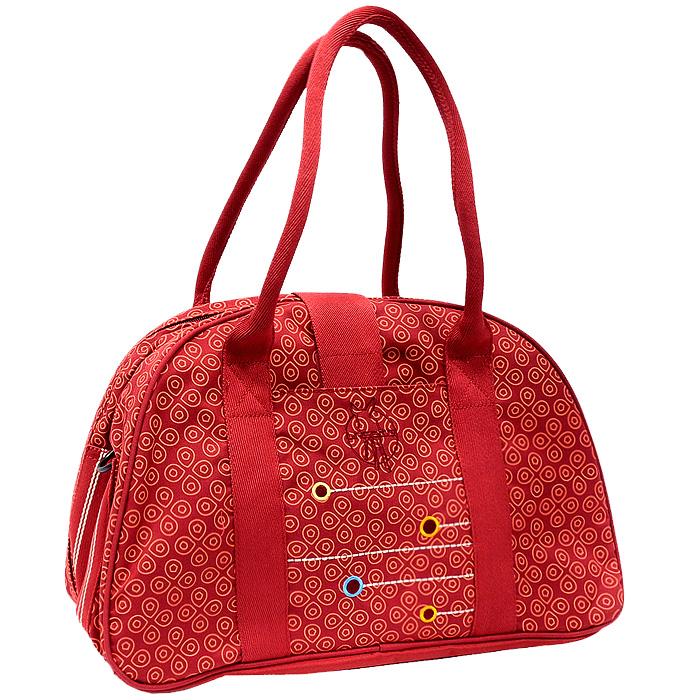 """Сумка для мамы Lassig """"Гобелен"""", на плечо, цвет: красный LSB10121"""
