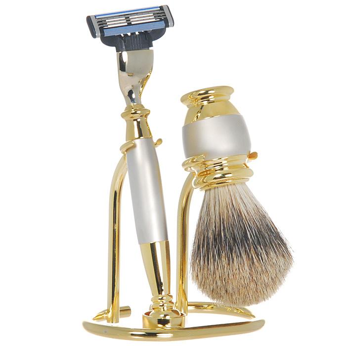 Подарочный набор для бритья S. Quire, цвет: золотистый с металликом фляга s quire камуфляж 270 мл