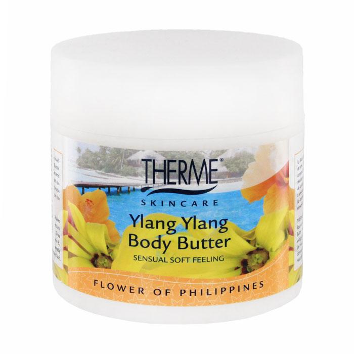 Масло взбитое для тела Therme Иланг-иланг, 250 мл61635Масло взбитое для тела Therme Иланг-иланг является мягким ультра богатым увлажняющим кремом для кожи. Делает даже очень грубую и сухую кожу мягкой и гладкой как шелк. В состав масла для тела входит натуральное масло дерева ши, которое оказывает превосходное действие на кожу. Масло дерева ши содержит витамины А и D, которые восстанавливают кожу, антиокислительный витамин Е и витамин F придают коже невероятную мягкость и эластичность. Растение иланг-иланг родом из Индонезии. Его масло широко известно в мире ароматерапии и косметологии. Воздействуя на эмоциональное состояние, иланг-иланг снимает напряжение, избавляет от беспокойства, пробуждает чувственность. Характеристики: Объем: 250 мл. Производитель: Нидерланды. Артикул: 61635. Товар сертифицирован.