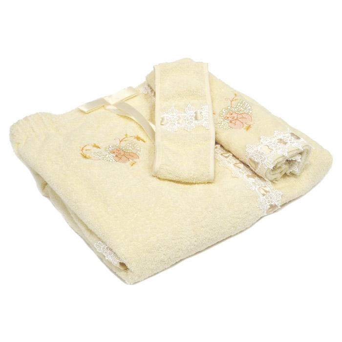 Комплект для бани и сауны SL, цвет: бежевый, 3 предмета. 0506905069Банный комплект SL, выполненный из натуральной и прочной махровой ткани, включает: парео, полотенце и повязку на голову. Предметы комплекта украшены вышивкой в виде ангелочков (кроме повязки), белыми кружевами и атласной лентой в тон основной ткани. Банный комплект SL подарит массу положительных эмоций и приятных ощущений для всех любительниц пара. Характеристики: Материал: 100% хлопок. Цвет: бежевый. Размер упаковки: 41 см х 30 см х 6 см. Изготовитель: Китай. Артикул: 05069. В комплект входит: Парео - 1 шт. Размер: 90 см х 150 см. Полотенце - 1 шт. Размер: 57 см х 34 см. Повязка на голову - 1 шт. Размер: 8 см х 64 см. Soft Line - мягкая эстетика для вас и вашего дома! Основанная в 1997 году, компания Soft Line является путеводителем по мягкому миру текстиля, полному удивительных достопримечательностей! Высочайшее качество тканей в сочетании с эксклюзивным дизайном и изысканными отделками неизменно привлекают как...