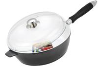 Сковорода Vitesse, со съемной ручкой. Диаметр 26 см. VS-2264VS-2264Сковорода Vitesse с антипригарным покрытием класса премиум и со съемной ручкой. Особенности сковороды: - изготовлена из высококачественного алюминия; - стойкое керамическое покрытие, позволяющее готовить при температуре до 450°C; - покрытие безопасное для здоровья человека, не содержит PFOA; - покрытие стойкое к царапинам, возможно использование металлической лопатки; - съемная ручка; - равномерное нагревание и доведение блюда до готовности. Крышка выполнена из термостойкого стекла. Она позволяет наблюдать за процессом приготовления пищи. В комплект входят две прихватки-варежки. Характеристики: Материал: алюминий, пластик. Внешний диаметр по верхнему краю: 26 см. Высота стенки сковороды: 8 см. Длина ручки: 22 см. Размер упаковки: 33 см х 29 см х 12 см. Изготовитель: Китай. Артикул: VS-2264. Французская торговая марка Vitesse представляет высококачественную посуду из нержавеющей стали 18/10....