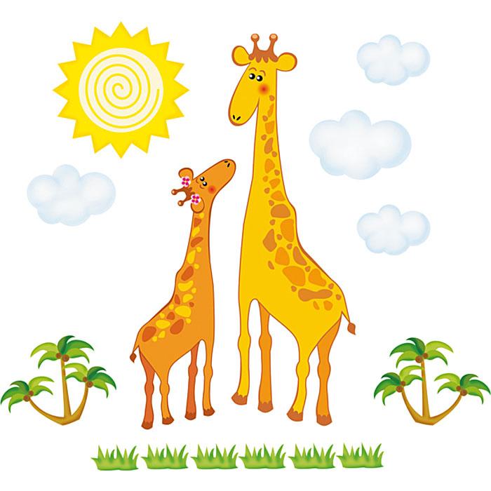 Украшение для стен и предметов интерьера Два жирафаUP210DFУкрашение для стен и предметов интерьера Два жирафа, состоящее из самоклеющихся элементов с изображением двух жирафов, солнышка, облаков, пальм и шести кустиков с травой. Это украшение поможет вам украсить интерьер вашего дома и проявить индивидуальность. Декоретто - уникальный способ легко и быстро оживить интерьер, добавить в него уют и радость. Для вас открываются безграничные возможности проявить творчество и фантазию, придумать оригинальный дизайн, придать новый вид стенам и мебели. В коллекции Декоретто вы найдете украшения для любых городских и дачных интерьеров: детских, гостиных, спален, кухонь, ванных комнат. Особенности украшений Декоретто: изготовлены из экологически безопасной самоклеющейся пленки с водоотталкивающей поверхностью;быстро и легко наклеиваются на обои, крашеные стены, дерево, керамическую плитку, металл, стекло, пластик;при необходимости удобно снимаются, не оставляют следов и не повреждая поверхность (кроме бумажных обоев);специальный слой защищает поверхность от влаги и выгорания. Характеристики: Материал: самоклеющаяся пленка. Размер листа: 67 см x 47 см. Артикул: B 2039.Изготовлено в России по лицензии Ascott Group (Франция).