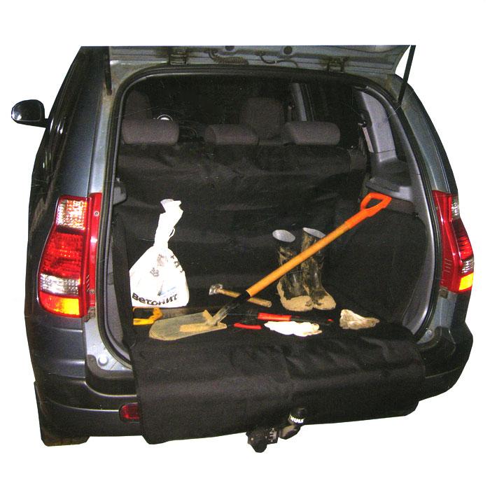 Защитная накидка в багажник Comfort Adress, цвет: черный, 120 х 150 х 70 смdaf 0221Защитная накидка в багажник Comfort Adress, выполненная из прочного, водоотталкивающего материала, защищает дно, боковые стенки багажника, спинки задних сидений от грязи и повреждений. Также имеется дополнительная защита бампера от царапин во время загрузки. Система установки проста и удобна. Не мешает откидыванию задних сидений. Защитная накидка универсальна, подходит для любых типов и размеров багажников. Характеристики: Материал: непромокаемая ткань ПВХ 600D. Размер: 120 см х 150 см х 70 см. Цвет: черный. Производитель: Россия. Артикул: daf 0221.