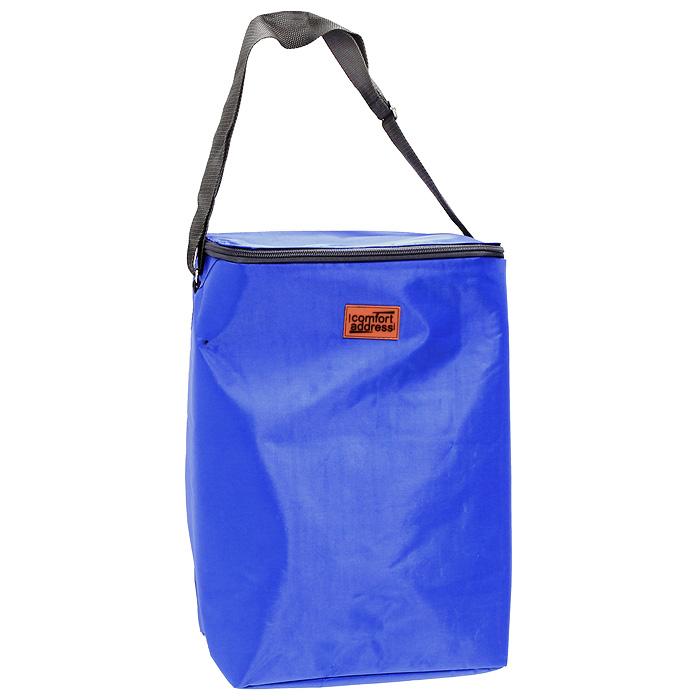 Сумка-холодильник EASY, цвет: синий, 24 лice 034Сумка-холодильник EASY предназначена для сохранения температуры продуктов и напитков. Она изготовлена из текстильных материалов с теплоизолирующей подкладкой. Сумка-холодильник подходит для транспортировки продуктов и напитков. Особенности сумки-холодильник EASY: внешний слой - это крепкая ткань с непромокаемой пропиткой многослойная изоляция внутренний слой серебристого цвета абсолютно герметичен сумка работает максимально эффективно при полном заполнении сохраняет низкую температуру до 6 часов без аккумулятора холода для длительного поддержания температуры рекомендуется пользовать аккумуляторы температуры (не входят в комплект) из расчета 200 грамм на каждые 6 литров объема. рабочая температура сумки от +50°С до -20°С. Внимание! Не следует хранить в сумке острые предметы, они могут повредить внутренний слой. Характеристики: Материал: полиэстер, ПВХ. Объем: 24 л. Размер:...