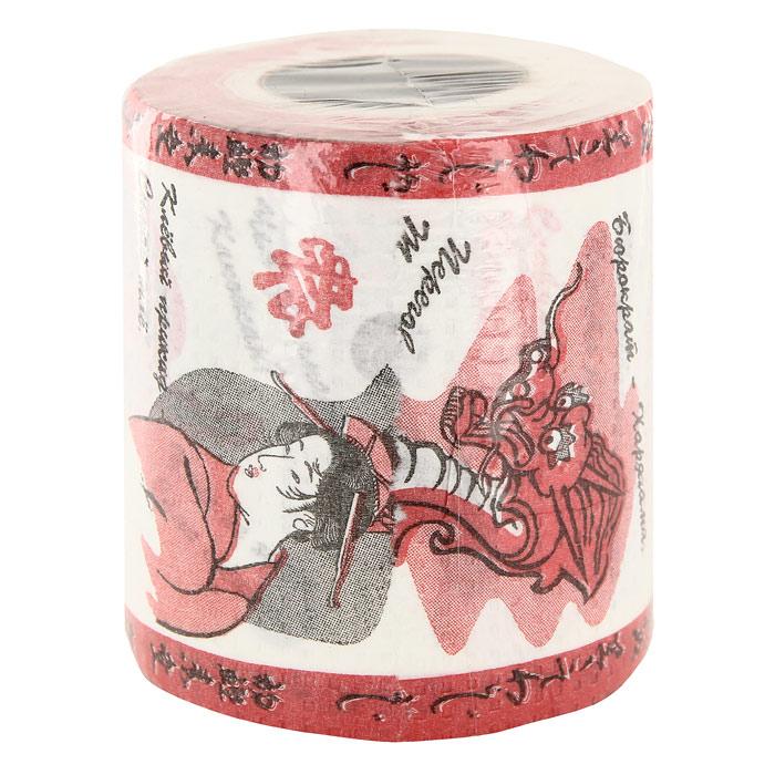 Туалетная бумага Русско-японский разговорник. 91685391602Качественная туалетная бумага Русско-японский разговорник - оригинальный сувенир для людей, ценящих чувство юмора. Бумага оформлена иллюстрациями и русско-японскими словами и фразами.Рулон имеет стандартный размер и упакован в пленку. Характеристики: Высота рулона: 10 см. Материал: бумага. Производитель: Россия. Артикул: 91685.
