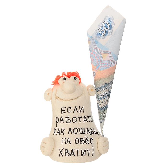 """Эврика Фигурка декоративная """"Если работать как лошадь, на овес хватит!"""" 93244"""