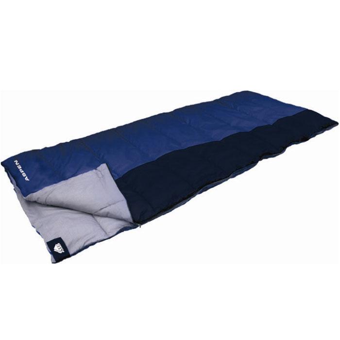 Спальник Trek Planet Aspen, цвет: синий, правосторонняя молния70362-RКомфортный, просторный и теплый спальник-одеяло Trek Planet Aspen предназначен для походов и для отдыха на природе как в летнее время, так и в весенне-осенний период. Также можно использовать как обычное одеяло. К несомненным достоинствам этого спальника можно отнести то, что он хорошо подойдет также высоким и крупным туристам. Особенности спальника: Увеличенная длина и ширина спальника, 4-канальный наполнитель Hollow Fiber, Двухсторонняя молния, Термоклапан вдоль молнии, Внутренний карман, Возможно состегивание спальников между собой (левая и правая молнии). К спальнику прилагается компрессионный чехол для удобного хранения и переноски. Характеристики: Цвет: синий/темно-синий t° комфорт: 1°C t° лимит комфорта: -4°C t° экстрим: -14°C. Внешний материал: 100% полиэстер. Внутренний материал: 100% поликоттон, Утеплитель: Hollow Fiber 4Н 2x175...