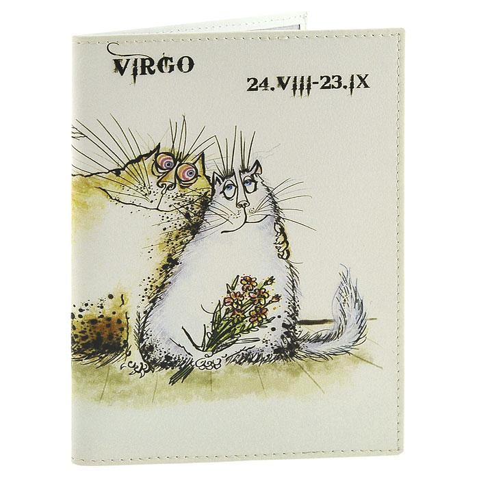 Обложка для паспорта Perfecto Virgo PS-ZDCT-06BM8434-58AEОбложка для паспорта Дева, выполненная из натуральной кожи, оформлена оригинальным изображением забавного кота, символизирующего знак зодиака - дева. Такая обложка не только поможет сохранить внешний вид ваших документов и защитит их от повреждений, но и станет стильным аксессуаром, идеально подходящим вашему образу. Обложка для паспорта стильного дизайна может быть достойным и оригинальным подарком.Характеристики: Материал: натуральная кожа, пластик.Размер (в сложенном виде): 9,5 см x 13,5 см.Производитель: Россия.Артикул: PS-ZDCT-06.