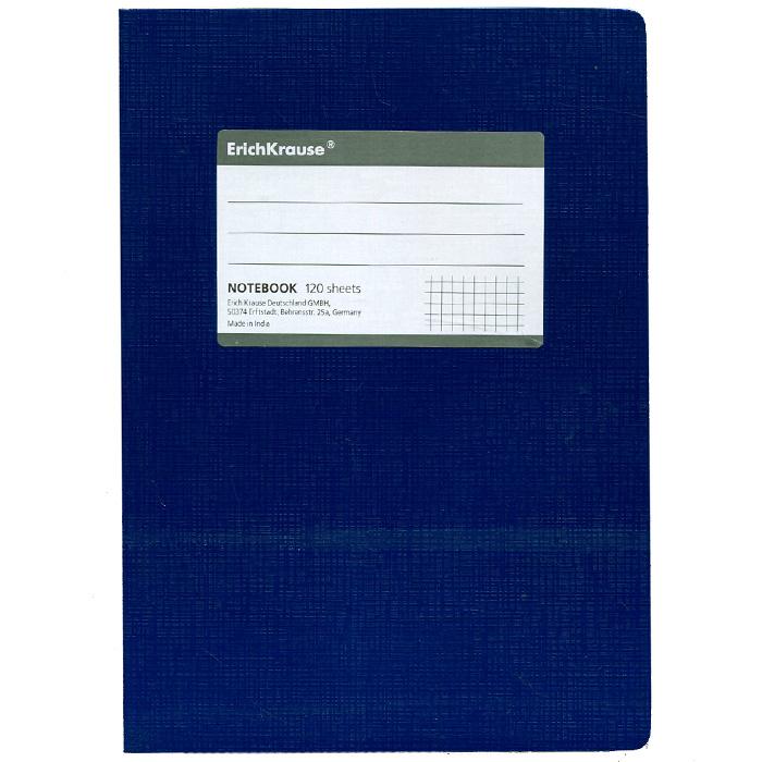 Тетрадь One Color, цвет: синий, 120 листов, А5665-SBТетрадь One Color в клетку из белой офсетной бумаги послужит прекрасным местом для различных записей. Обложка тетради выполнена из тонкого картона с покрытием. Такая тетрадь подойдет как школьнику, так и студенту. Характеристики:Размер тетради: 14,5 см х 20,5 см х 1,1 см. Формат: А5. Количество листов: 120. Материал: картон, бумага. Изготовитель: Индия.