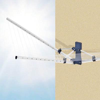 Сушилка Garden Spider, настенная10250400Настенная сушилка для белья Garden Spider, изготовленная из алюминиевого сплава, проста и удобна в использовании. Она компактно складывается, экономя место в вашей квартире. Сушилку можно использовать на балконе или дома. В комплект входят два настенных крепления. Характеристики: Материал: пластик, алюминиевый сплав. Общая длина веревки: 18 м. Максимальная нагрузка: 18 кг. Размер корпуса: 103 см х 195 см х 48 см. Расстояние между веревками: 7 см. Размер упаковки: 104 см х 11 см х 10 см. Артикул: 10250400.