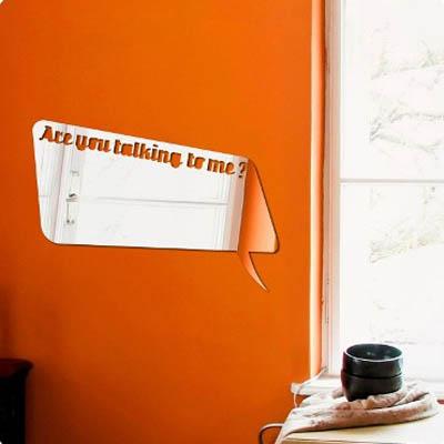 Декоративное зеркало. Paris-Paris Are You Talking to Me?, 29 х 42 смПР01009Фигурное зеркало Paris-Paris - это яркий декоративный объект, по отражающим свойствам не уступающий классическому стеклянному зеркалу. Всегда разные в зависимости от того, где они располагаются, зеркала Paris-Paris каждый раз вступают в новый диалог с интерьером! Зеркало из гибкого органического стекла. Этот легкий и прочный материал по сравнению с обычным стеклом более устойчив к повреждениям и обеспечивает максимальный визуальный эффект. Крепится к стене при помощи специального двустороннего скотча входящего в комплект. Инструкция: Если вы уже выбрали место для вашего зеркала, весь процесс займет 3 минуты. Стена должна быть чистой и сухой. Снимите защитную пленку с клейкой ленты на обратной стороне зеркала; Разместите зеркало на стене; Аккуратно снимите с зеркала защитную пленку.