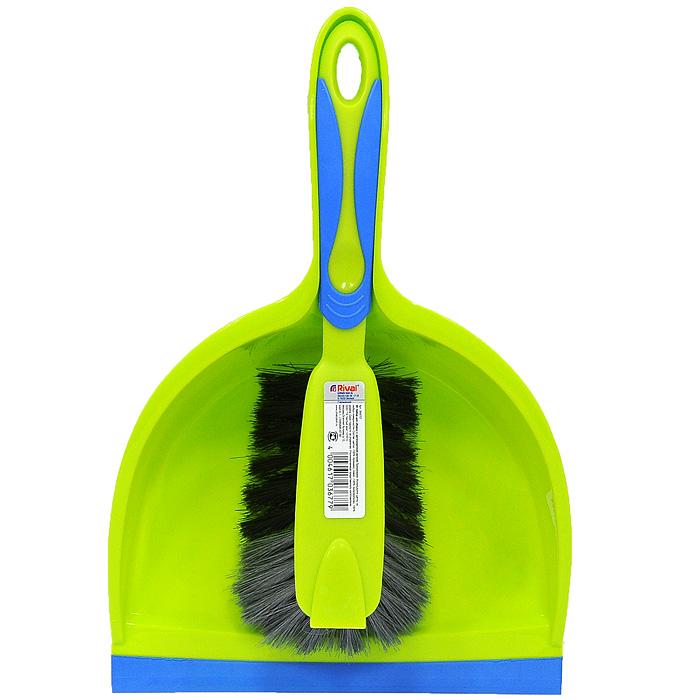 Набор для уборки Rival, 2 предмета, цвет: салатовый, голубой. 3K67073K6707Набор для уборки Rival состоит из щетки и совка. Предметы набора изготовлены из высококачественного полипропилена. Щетка эффективно собирает грязь со всех видов полов. Благодаря резиновой кромке на совке он идеально прилегает к полу и позволяет легко сметать грязь и мусор на него. Удобный дизайн набора способствует качественной уборке. Торговая марка Rival нацелена на объединение таких важных составляющих продукта, как многофункциональность, привлекательный дизайн и эргономические качества. И ей это удается благодаря созданию новых технологий производства, разработке современных продуктов, качественных и простых в использовании. Характеристики: Материал: полипропилен, резина, полимекс. Общая длина щетки: 28 см. Длина рабочей поверхности щетки: 12 см. Длина щетины: 6 см. Размер рабочей поверхности совка: 16,5 см х 21,5 см х 6,5 см. Длина ручки совка: 14 см. Производитель: Германия. Артикул: 3K6707. Gerhard...