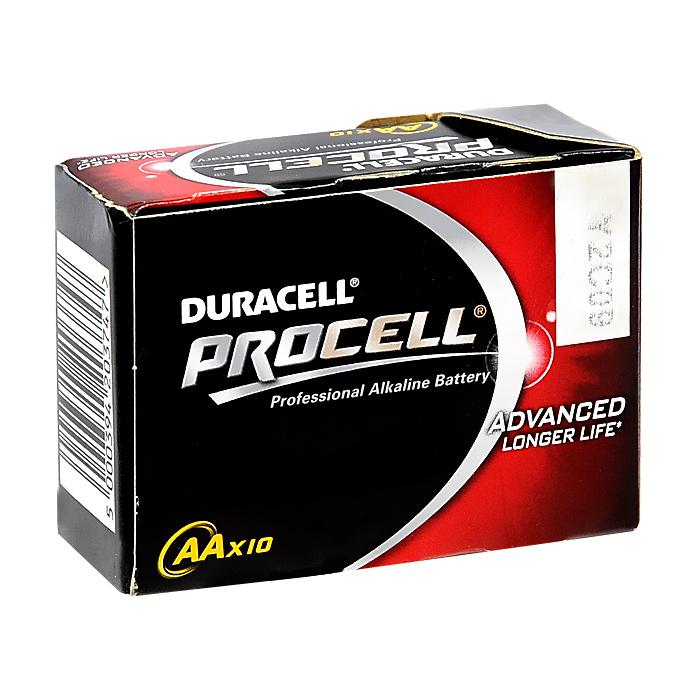 Набор алкалиновых батареек Duracell Procell, тип AA, 10 шт09843-20.000.00Набор алкалиновых батареек Duracell Procell предназначен для использования в различных электронных устройствах небольшого размера, например в пультах дистанционного управления, портативных MP3-плеерах, фотоаппаратах, различных беспроводных устройствах. Характеристики:Тип элемента питания: AA (LR6). Тип электролита: щелочной. Выходное напряжение: 1,5 В. Комплектация: 10 шт. Размер упаковки:7 см х 3 см х 5 см. Изготовитель:Бельгия.