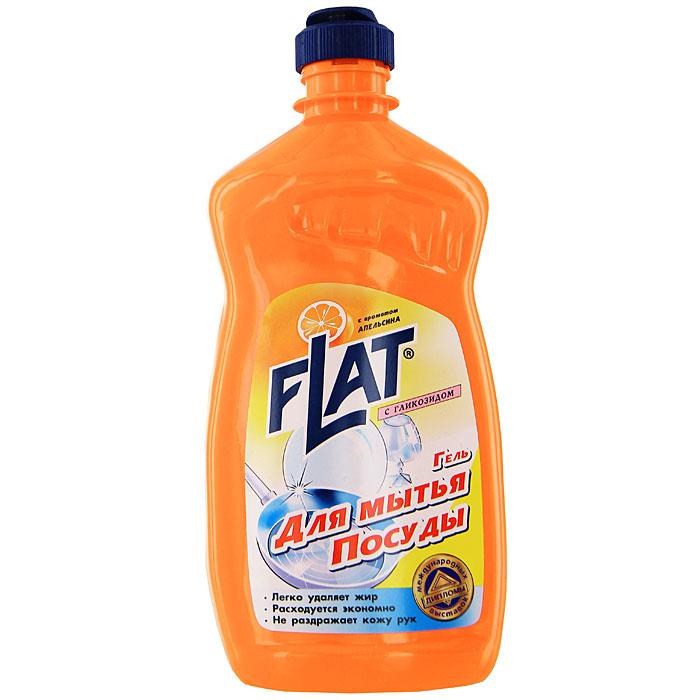 Гель для мытья посуды Flat, с гликозидом, с ароматом апельсина, 500 гES-412Гель для мытья посуды Flat прекрасно моет посуду в воде любой жесткости и температуры. Подходит для мытья посуды из фарфора, хрусталя, стекла, тефлона, пластика, металла и другого материала, а также может использоваться для мытья кухонной мебели, кафеля и стен. Гель растворяет жиры, смывает остатки пищи, не оставляет разводов и пятен на посуде. Благодаря эффективной формуле и густой консистенции средство обеспечивает минимальный расход. Содержит гликозид, который позволяет мыть посуду, не иссушая и не раздражая кожу рук. Характеристики:Вес: 500 г. Производитель:Россия.Товар сертифицирован.