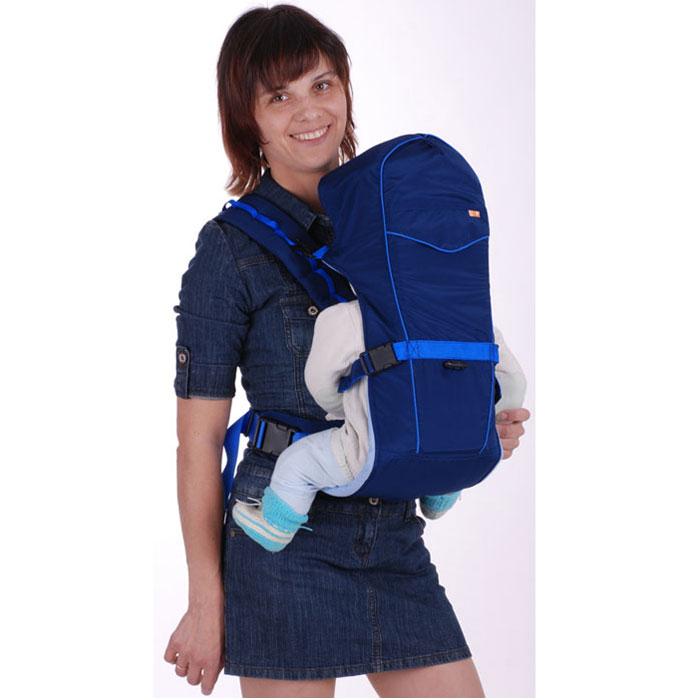 "Чудо-Чадо Рюкзак-кенгуру ""BabyActive Simple"", цвет: синий BAS05-001"