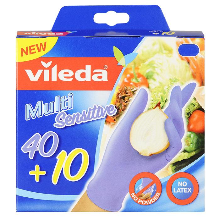 Перчатки одноразовые Vileda, 50 шт. Размер M/L138583Одноразовые перчатки Vileda выполнены из нитрила с внутренним хлопковым напылением. Они не вызывают аллергических реакций на протеин латекса. Перчатки без пропиток и отдушек рекомендованы для приготовления пищи, а также любых хозяйственных работ. Каждая перчатка подходит для левой и правой руки. Идеально облегают руку и сохраняют чувствительность пальцев.