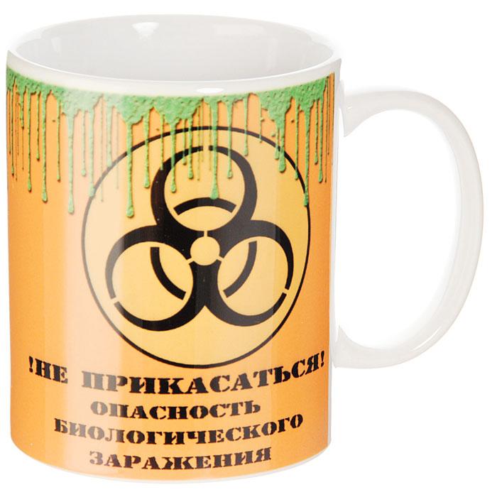 Кружка Биологическое заражение93475Кружка Биологическое заражение, выполненная из высококачественной керамики, станет отличным подарком для человека, ценящего забавные и практичные подарки. Кружка оформлена изображением знака биологической опасности и надписью !Не прикасаться! Опасность биологического заражения. Такой подарок станет не только приятным, но и практичным сувениром: кружка станет незаменимым атрибутом чаепития, а оригинальный дизайн вызовет улыбку. Характеристики: Материал: керамика. Высота кружки: 9,5 см. Диаметр по верхнему краю: 8 см. Размер упаковки: 10,5 см х 10 см х 10 см. Изготовитель: Китай. Артикул: 93475.